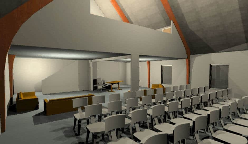 Rendering of Youth Center at Broadway Christian Church in Columbia, Missouri.