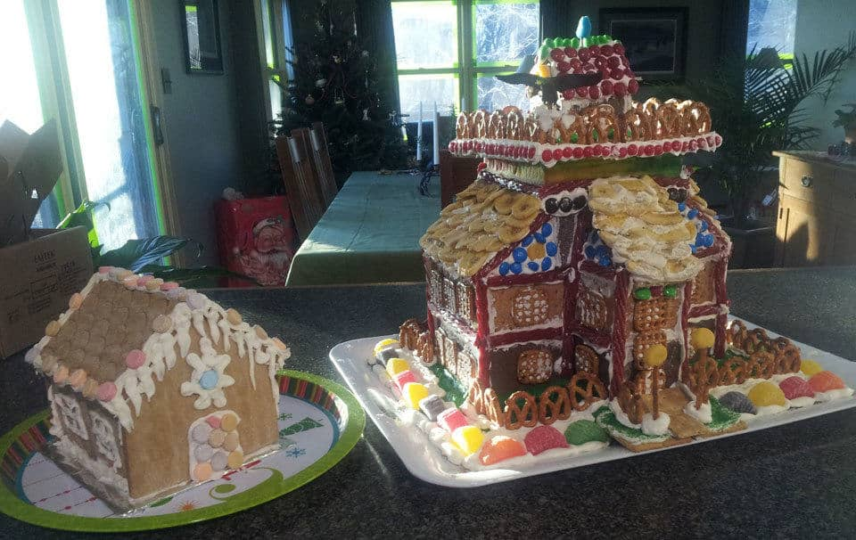 The completed Graham Cracker House and Tract House.