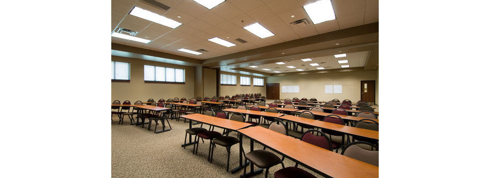 The multipurpose meeting room of the Missouri Conference Office of the United Methodist Church.