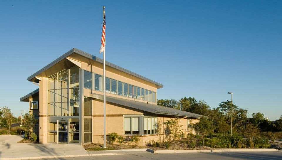 Many sustainable design features were also incorporated into the design of the Missouri Credit Union in Columbia, Missouri.