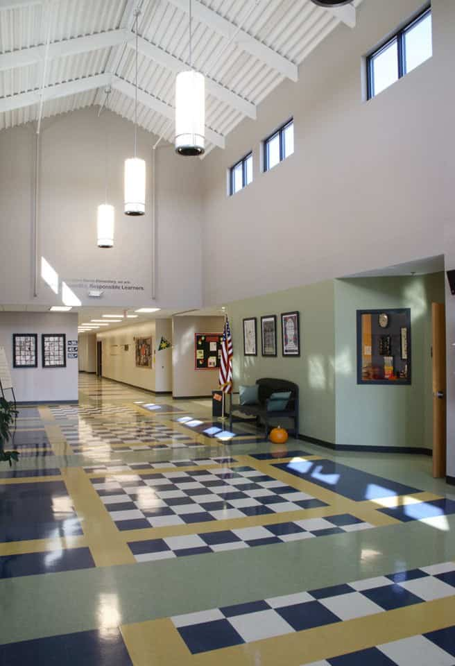 Entrance to the 3rd - 5th Grade school building at Southern Boone County Schools in Ashland, Missouri.