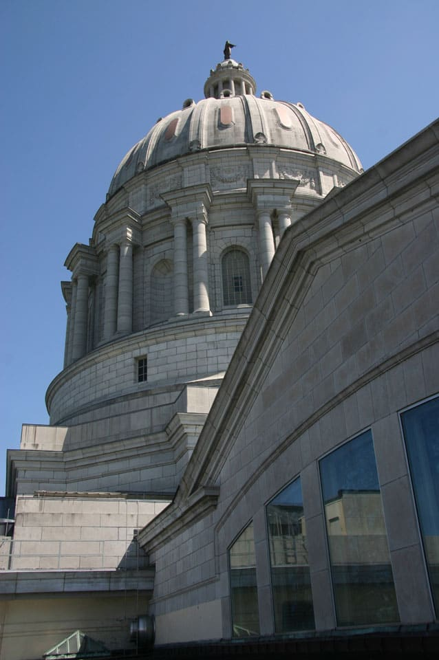Civic-Government project: PWA completed a roofing and parapet restoration on the Missouri State Capitol Building.