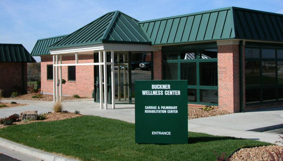 The exterior of the Buckner Wellness Center in Marshall, Missouri was designed to compliment Fitzgibbon Hospital's existing facilities.