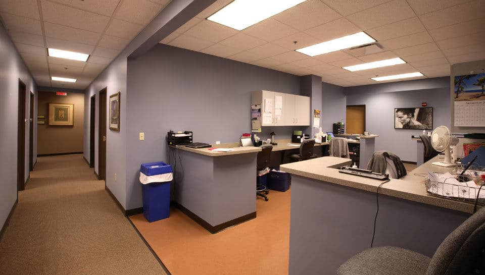 Nurses station at Columbia Family Medical Group in the Columbia Medical Plaza.