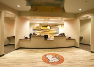 Check-in desk at Tiger Pediatrics in the Columbia Medical Plaza.
