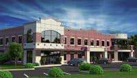 Rendering of the Wingate Court medical office building.