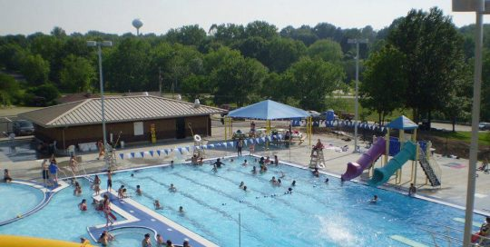 Swimming pool in Boonville, Missouri.