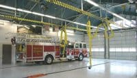 Apparatus bay of Columbia Fire Station 8.