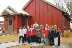 The Eco Schoolhouse is a classroom where sustainable learning is integrated into the curriculum.