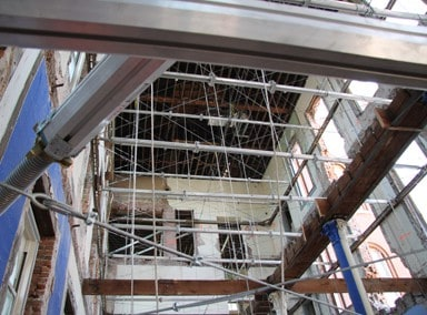 Structural support system used for Switzler Hall Renovation, University of Missouri.