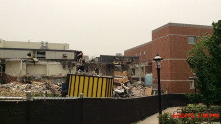 Demolition at Lafferre Hall 2015-06-30.