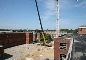 Construction at Lafferre Hall 2015-09-15