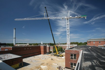 Construction at Lafferre Hall 2015-09-15.