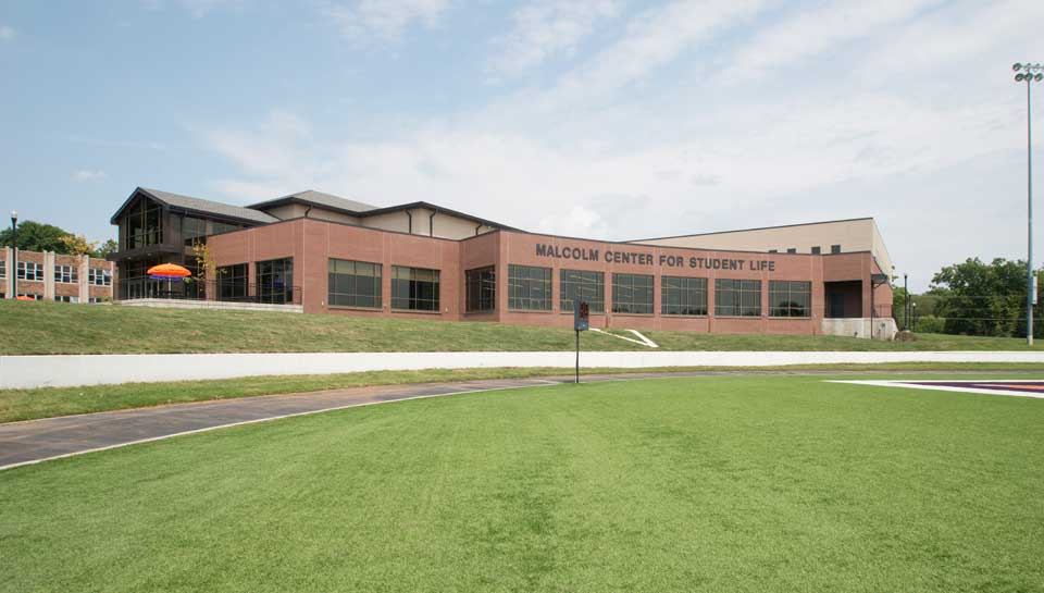 Malcolm Center for Student Life at Missouri Valley College, Marshall, Missouri.