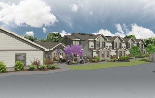 Rendering of Welcome Home Inc.'s Veterans emergency homeless shelter, under construction in Columbia, Missouri.