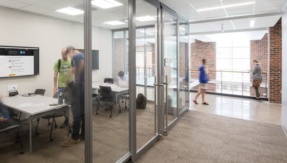 Lafferre Hall has conference rooms where students can collaborate. Photography by Randy Braley.