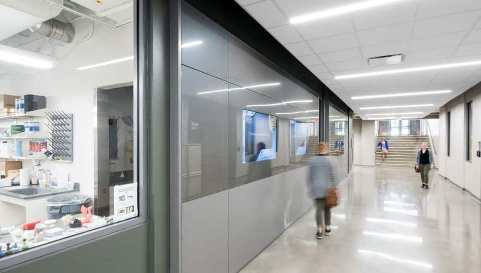 Corridor in Lafferre Hall. Photography by Randy Braley.