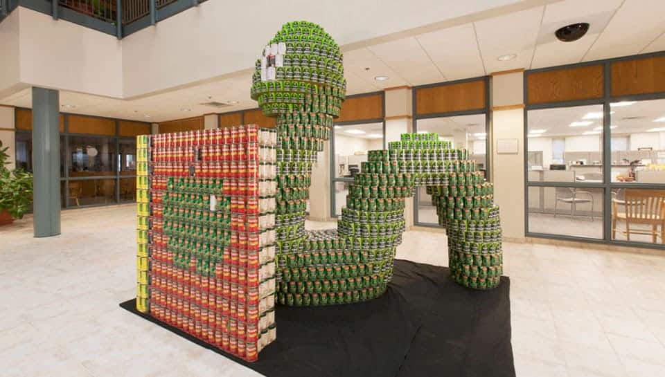 Bookworm Canstruction at 2013 competition.