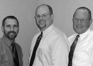 Chris Davis, Erik Miller, and Brad Wright, the Principals of PWArchitects, Inc.