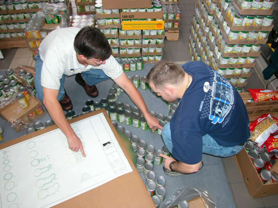 Community Activity Canstruction.