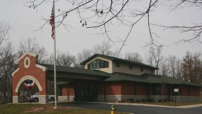 The Hannibal Housing Authority Administrative Office Building includes many sustainable design practices.