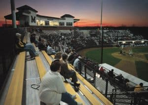 Taylor/Phi Delta Theta Baseball Stadium at Simmons Field, home of the Missouri Tigers-Baseball. Photo by Ed Pfueller