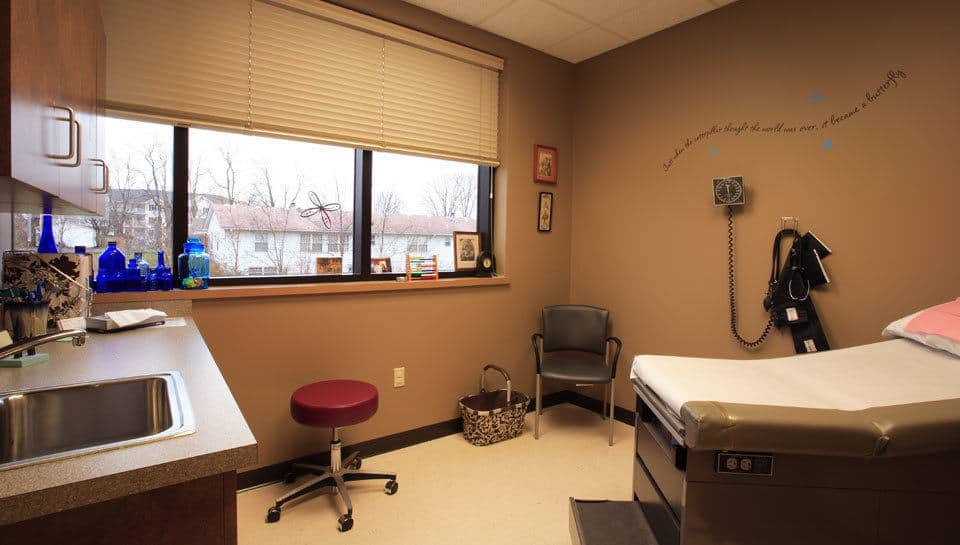 Exam room at Columbia Family Medical Group in the Columbia Medical Plaza.