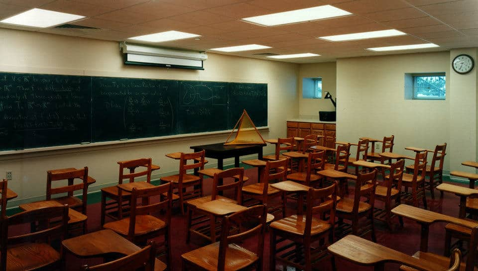 The basement classroom adds educational space to Missouri University of Science and Technology's Math Department.