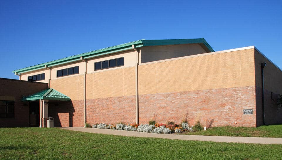 Multipurpose gymnasium at Southern Boone County R-1 Schools in Ashland, Missouri.