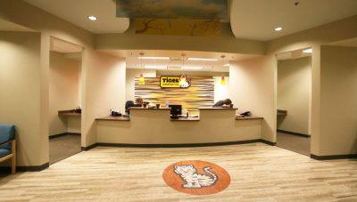 Check-in desk at Tiger Pediatrics in the Columbia Medical Plaza.