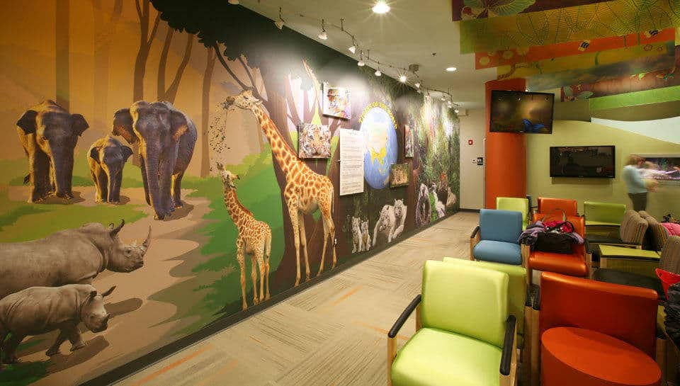 Waiting room at Tiger Pediatrics in the Columbia Medical Plaza.