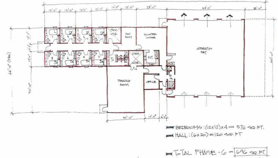 Boone County Fire Protection District modular design floor plan.