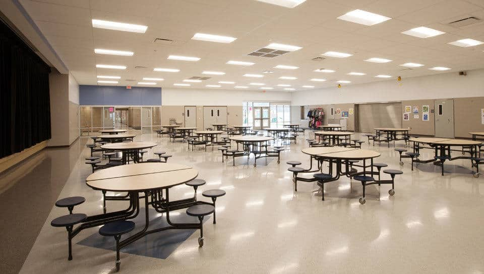 Cafeteria of Battle Elementary School.