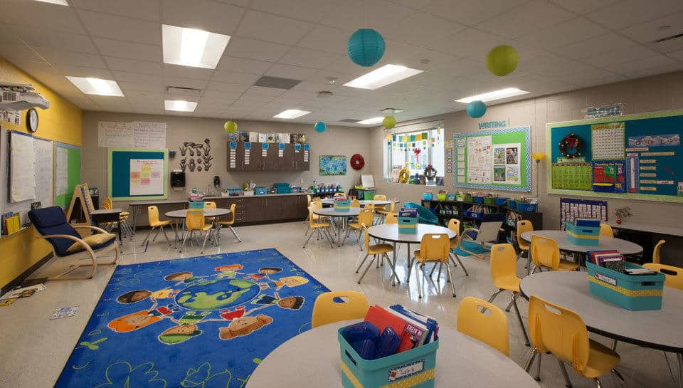 Classroom at Battle Elementary School.