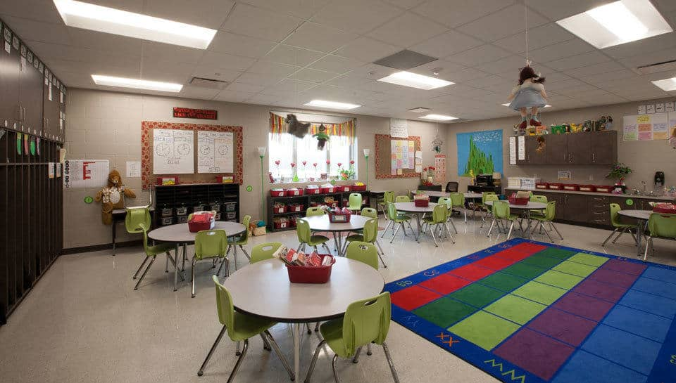 Wizard of Oz themed classroom at Battle Elementary School.