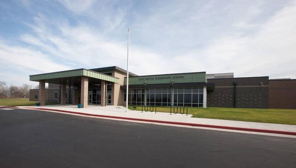Exterior of Battle Elementary School.