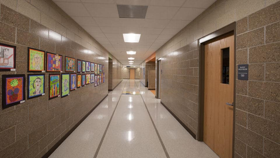 Hallway at Battle Elementary School