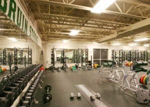 Rock Bridge High School Weight Room is part of the gym addition.