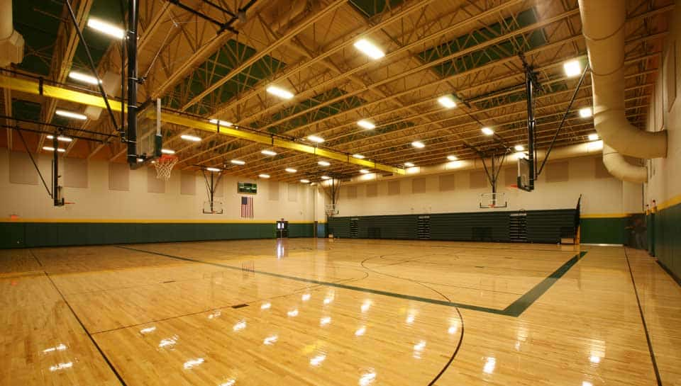 Rock Bridge High School Gymnasium, home of the Bruins.