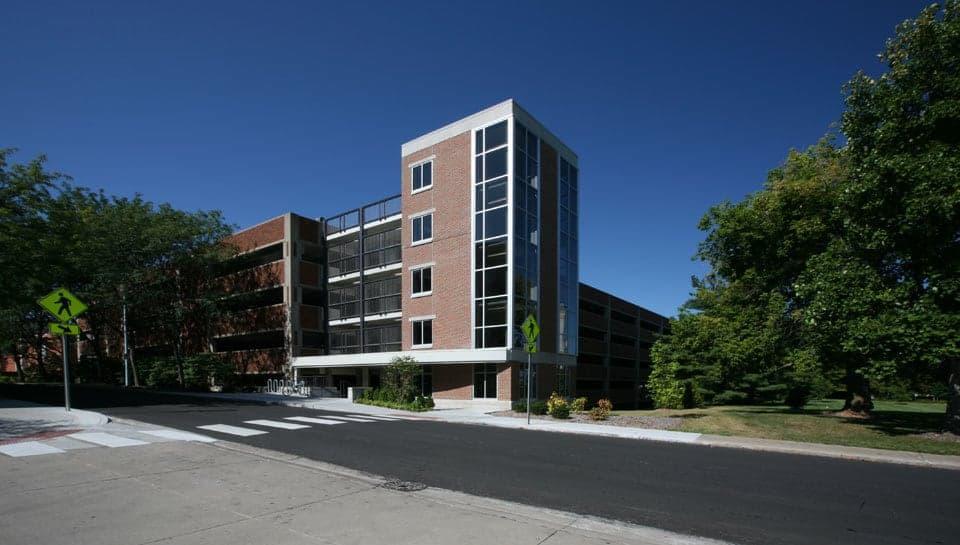 Vertical photo of Turner Avenue Garage at the University of Missouri.