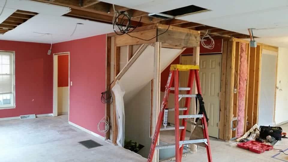 Making progress during renovation.