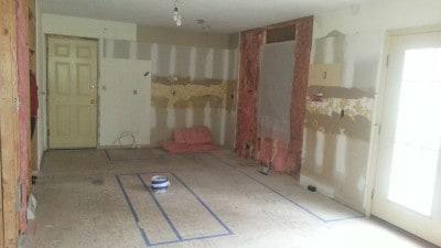 Renovation after demolition.