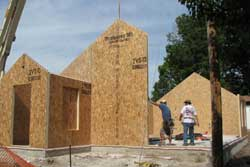 The Structural Insulated Panel system of the Eco Schoolhouse provides R-24 walls and R-42 roof.