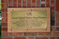 Parents, children and businesses donated time and materials for the garden which has become a National Wildlife Society Certified Wildlife Habitat.