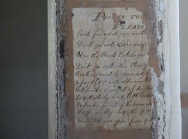 Artifact found during Switzler Hall Renovation, University of Missouri.