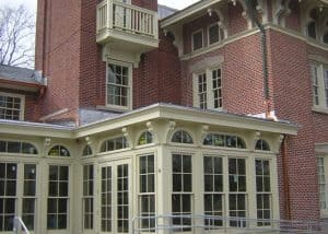 The renovation of the Residence on the Francis Quadrangle at the University of Missouri included the addition of an elevator tower for accessibility.