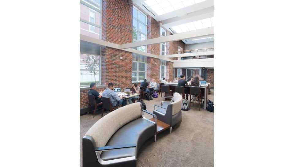The lobby of Lafferre Hall. Photography by Randy Braley.