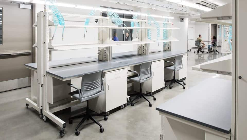 Laboratory spaces in Lafferre Hall. Photography by Randy Braley.