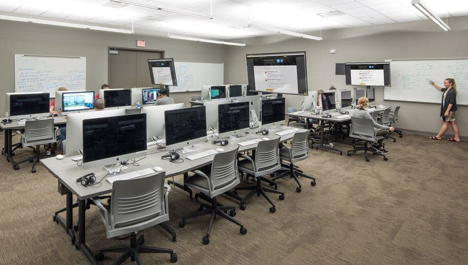 Classroom in Lafferre Hall. Photography by Randy Braley.
