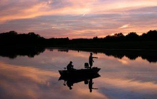 Fishing at Mechlin Lake.